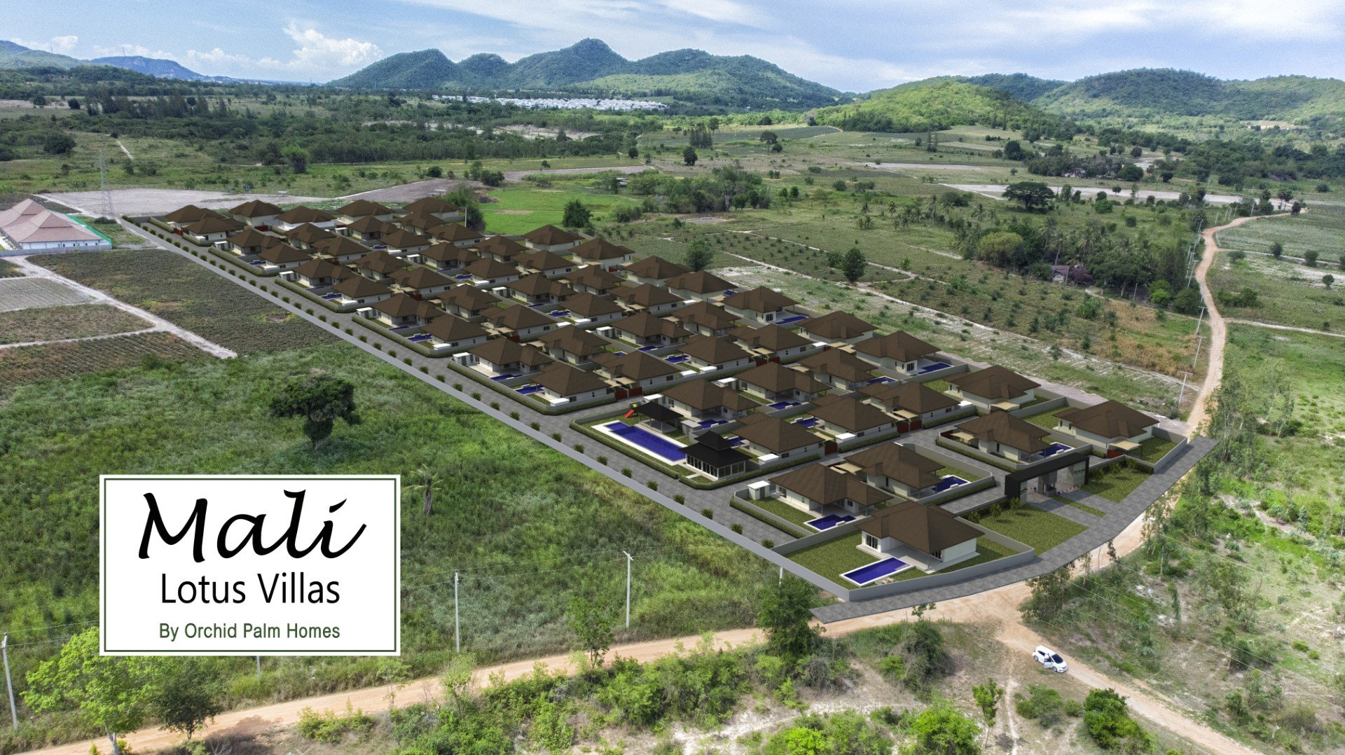 Mali Lotus Villas by Orchid Palm Homes | 3D Conceptual Image with Real Background